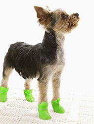 Cat Dog Boots / Shoes Anti-Slip Sole Jelly Shoes Waterproof Solid Black Purple Yellow Blue Pink For Pets