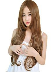 Donna senza cappuccio Side Bang sintetico ondulate lunghe parrucche 23 pollici 4 colori disponibili