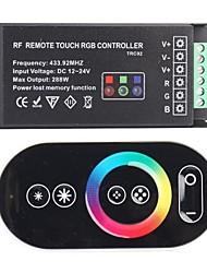 baratos -TRC02 RF remoto Toque Controlador RGB para LED RGB-Black (433,92 MHz 288W DC 12 ~ 24V)