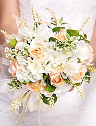 economico -Bouquet sposa Bouquet Matrimonio Seta 28 cm ca.