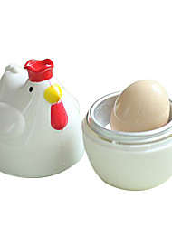Chicken Shape White Practical Chicken Microwave Egg Cooker Poacher Boiler Boil Steamer Home Kitchen Tools