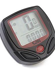 Недорогие -Велоспорт Велокомпьютер Сигнализатор превышения скорости Удобный Секундомер Odo - одометр Черный
