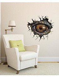3DThe Dinosaur Eyes Wall Stickers Wall Decals