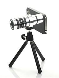 12X Detachable Telephoto Lens Set  for  Iphone5 - Silver