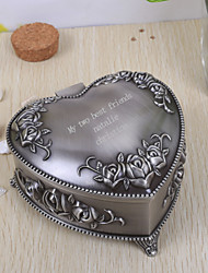 cheap -Gifts Bridesmaid Gift Personalized Vintage Heart Shaped Tutania Jewelry Box