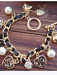 cheap -Pearl Heart Charm Bracelets Jewelry Christmas Gifts