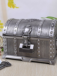 Недорогие -Винтаж Серебряный Tutania Treasures Box / Jewelry Box с замком
