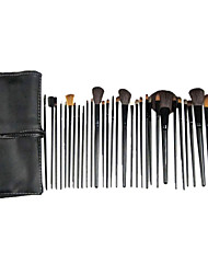cheap -32pcs Makeup Brushes set Horse/Pony/Goat Hair Professional Black Powder/Foundation/Concealer/Blush brush Shadow/Eyeliner/Lip/Brow/Lashes Brush