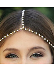 Ethnic Chain With Imitation Pearl  Gold Alloy Headbands For Women(1 Pc)