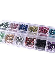 abordables -2500 pcs Paillettes Kit Nail Art Bijoux pour ongles Manucure Manucure pédicure Quotidien Abstrait / Mode / Acrylique / Bijoux à ongles