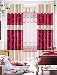 baratos -um par moderno e chenille jacquard de veludo painel cortina com pura conjunto
