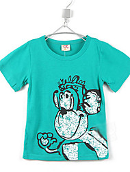 Kinder-Sommer-Runde Kragen Affe Cartoon Kurzarm-T-Shirts