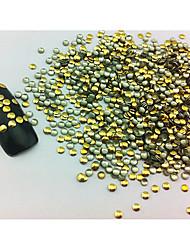 100PCS 2x2mm Rodada Punk Ouro Rivet Decorações Nail Art