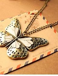 Недорогие -Женский Бабочка Животный принт европейский Ожерелья с подвесками Сплав Ожерелья с подвесками ,