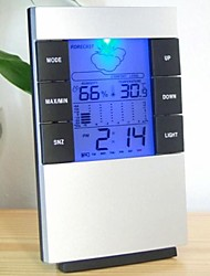 "2.7"" LCD Luminous Weather Forecast Thermometer + Hygrometer w/ Alarm Clock"