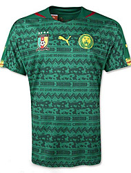 Недорогие -ЧМ-2014 Кубок мира майки Камерун домашняя игра зеленый