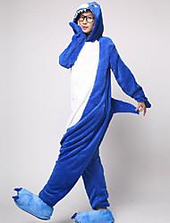 Kigurumi-pyjamas Haj Onesie-pyjamas Kostume Flanel Fleece Cosplay Til Voksne Nattøj Med Dyr Tegneserie Halloween Festival / Højtider