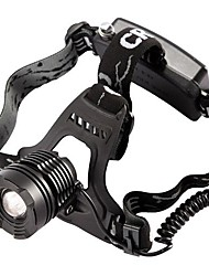 Headlamps Chargers LED 800 Lumens Mode Cree T6 18650 Adjustable Focus Waterproof Camping/Hiking/Caving