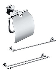 cheap -3 Packed Brass Bath Accessories Set,  Single and  Double Towel Bar/Paper Holder