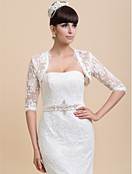 Wedding  Wraps Coats/Jackets Half-Sleeve Lace Ivory Wedding / Party/Evening