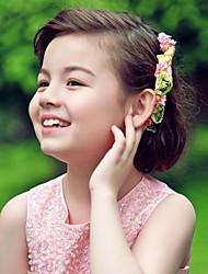 Tiras de papel, flores, cabeça, elegante, clássico, feminino, estilo