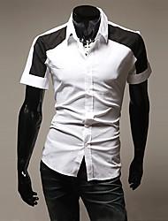 cheap -Men's Contrast Color Fashion Shirt