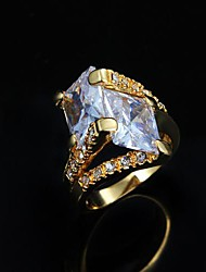 cheap -Women's Band Ring - Copper, Gold Plated, 18K Gold Fashion 6 / 7 / 8 Silver / Golden For Daily / Casual / Cubic Zirconia