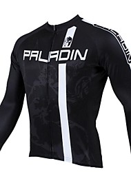 cheap -ILPALADINO Men's Long Sleeve Cycling Jersey - Black Bike Jersey, Thermal / Warm, Quick Dry, Ultraviolet Resistant
