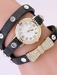 levne -Werolex Tie Diamonade Kožené Alloy hodinky WB0513015