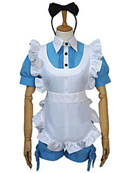 cheap -Inspired by Black Butler Ciel Phantomhive Anime Cosplay Costumes Cosplay Suits Patchwork Top Headpiece Apron Bow Shorts For Women's