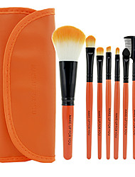 cheap -Make-up For You® 7pcs Makeup Brushes set Limits bacteria Orange Eyeshadow/Blush/Lip Brush Eye Brow Brush Makeup Kit Cosmetic Brushes Tool set