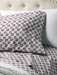 cheap -Sheet Set - Microfibre Pigment Print Floral 1pc Flat Sheet 1pc Fitted Sheet 2pcs Pillowcases (only 1pc pillowcase for Twin or Single)