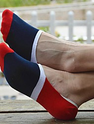 billige Undertøy og sokker til herrer-UnisexUnisex Fargeblokk Bomull / Spandex