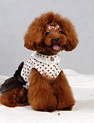 Kleider für Hunde Weiss Sommer XS / S / M / L / XL Baumwolle
