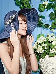 Недорогие -Женская мода выдалбливают бантом ленты флоппи Hat