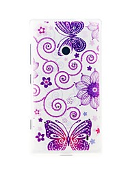 お買い得  -ケース 用途 Nokia Lumia 520 / Nokia Nokiakケース パターン バックカバー バタフライ ソフト TPU のために