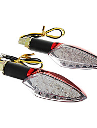 cheap -DIY Waterproof 15-LED Turn Signals Yellow Light for Motorcycles Red(DC12-16V 2W 2-Piece)