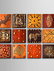 cheap -Hand-Painted Abstract Horizontal Canvas Oil Painting Home Decoration More than Five Panels