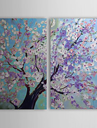 cheap -Hand-Painted Landscape Two Panels Canvas Oil Painting For Home Decoration