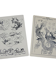 "Dragonhawk® Tattoo Supplies 2 HUGE Practice Skins Apprentice 8""x12"""