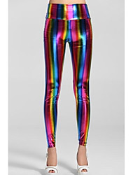 Women'sEmpire taille Fluorescent arc-en-Leggings