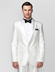 cheap -White Polyester Tailored Fit Two-Piece Tuxedo