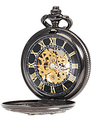 cheap -Men's Mechanical Watch / Pocket Watch Japanese Hollow Engraving Alloy Band Charm Black