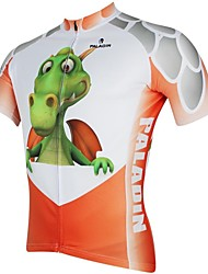 ILPALADINO Cycling Jersey Men's Short Sleeves Bike Jersey Tops Quick Dry Ultraviolet Resistant Breathable 100% Polyester Animal Cartoon