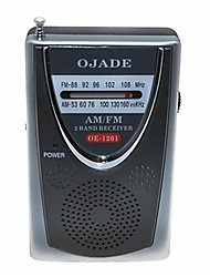 abordables -OJADE OE-1201 Mini portátil AM / FM 2-Band Radio
