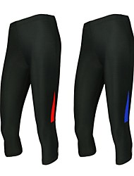 Arsuxeo Women's Running Pants Quick Dry Anatomic Design Wearable Antistatic Breathable Compression 3/4 Tights Compression Clothing Bottoms