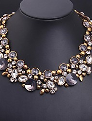 cheap -Women's Shape Luxury Statement Jewelry European Statement Necklace Crystal Synthetic Gemstones Alloy Statement Necklace Costume Jewelry