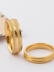 cheap -Classic Gold Scrub Stripe Titanium Steel Couple Rings Promis rings for couples