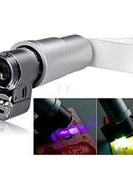 cheap -Apexel Portable 200X Zoom Microscope Micro Lens Clip On Most Mobile Phone (2 Bright LED Lights Built in)