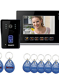 "9 ""Color Monitor Key Touch Vídeo Porteiro telefone campainha Intercom Sistema de IR"